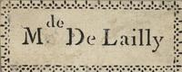 Mde De Lailly Bookplate