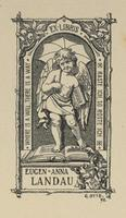 Anna Landau and Eugen Landau Bookplate