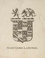 Mary Gore Langton Bookplate