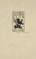 Isabel Van Kleeck Lyon Bookplate
