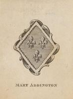 Mary Addington Bookplate