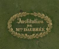 Institution de Mme Daubrée Bookplate