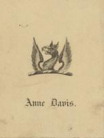 Anne Davis Bookplate
