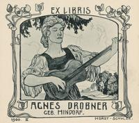 Agnes Drobner Bookplate