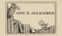 Amy B. Alexander Bookplate
