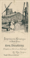 Eugène Delâtre Artistic Printing & Etching House Trade Card