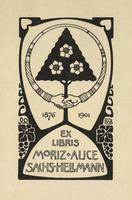 Alice and Moriz Sachs-Hellmann Bookplate