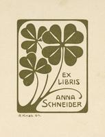 Anna Schneider Bookplate