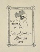 Ada Stewart Shelton Bookplate