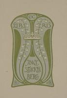 Anny Stackelberg Bookplate