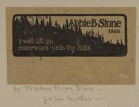 Abbie B. Stone Bookplate