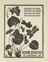 Alwine Reinecke Bookplate