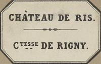 Comtesse de Rigny Bookplate