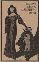 Anna Beer-Lenzberg Bookplate