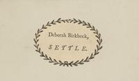 Deborah Birkbeck Bookplate