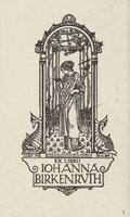 Johanna Birkenruth Bookplate