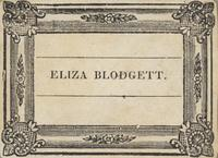 Eliza Blodgett Bookplate