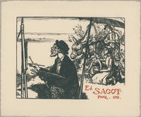 Edmund Sagot Trade Card, Paris, 1913