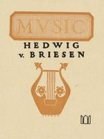 Hedwig von Briesen Bookplate