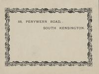 58, Penywern Road, South Kensington Bookplate