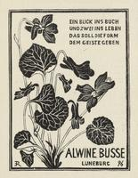 Alwine Busse Bookplate