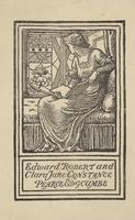 Clara Jane Constance Pearce Edgcumbe and Edward Robert Edgcumbe Bookplate
