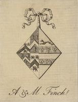 A. Finch and M. Finch Bookplate
