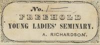 Freehold Young Ladies' Seminary Bookplate