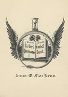 Anna W. MacBean Bookplate