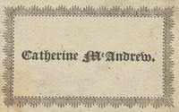 Catherine McAndrew Bookplate
