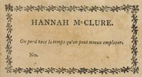 Hannah McClure Bookplate