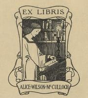 Alice Wilson McCulloch Bookplate