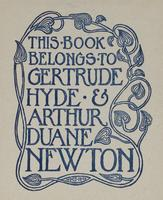 Gertrude Hyde and Arthur Duane Newton Bookplate