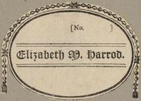 Elizabeth M. Harrod Bookplate