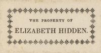 Elizabeth Hidden Bookplate