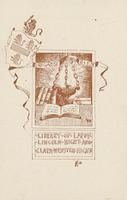 Clara Webster Hicht and Leroy Lincoln Hicht Bookplate