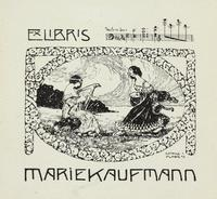 Marie Kafemann Bookplate