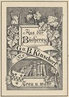 B. Kinscherf and G.u. Kinscherf Bookplate