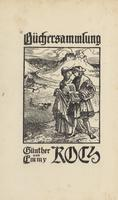 Emmy Koch and Gunther Koch Bookplate