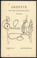 Gazette of the Grolier Club New Series No. 30/31