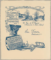 Trade card for Henri Lapot, Designer