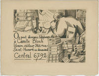 Camille Bloch, libraire-éditeur Trade Card