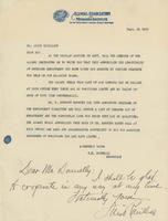Letter from W. E. Donnelly to Louis Rouillion