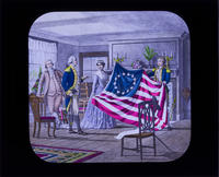 Betsy Ross Showing the First U.S. Flag