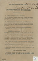 Apprentices Library Rules, 1832