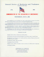 GSMT Independence Day Broadside, 1981