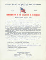 GSMT Independence Day Broadside, 1982