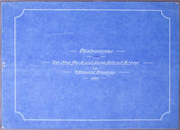 "Blueprint Title Page ""Photographs: The New York and Long Island Bridge"""