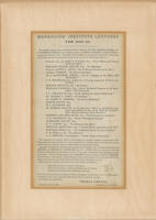 Mechanics' Institute Lecture Series 1842-1843