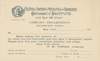 GSMT Library Delinquency Notice Card